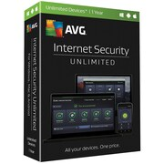 AVG® Internet Security 2017 Software, Unlimited Devices, Windows/Mac/Android (IS17T12EN)