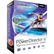 Cyberlink PowerDirector v.15.0 Ultimate Video Editing Software, Windows, DVD (PDR-EF00-RPM0-01)