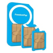 FreedomPop FGM-USIM-TRIOUSKIT01 Voice/Data Bundle 3 in 1 Sim Card Kit with Mobile Service