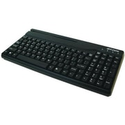 ID Tech® Versakey™ Compact POS Keyboard with Magnetic Stripe Reader, Black (IDKA-334333B)