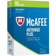 McAfee® Antivirus Plus 2017 Software, 10 Device, Windows/Mac/Android/iOS (MAV17EMB0RAA)