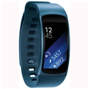 Samsung Gear Fit2 SM-R3600ZBNXAR Tizen OS Small Smart Fitness Band with Built-in GPS, Blue
