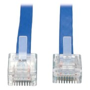 Tripp Lite N205-010-BL-FCR 10' Blue RJ-45 to RJ-45 Male/Male Cisco Console Replacement Rollover Cable
