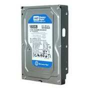 WD® Caviar Blue WD1600AAJS 160GB SATA 3 Gbps Internal Refurbished Hard Drive, Black/Silver