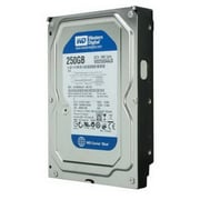 WD® Caviar Blue WD2500AAJS 250GB SATA 3 Gbps Internal Refurbished Hard Drive, Black/Silver