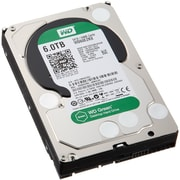 WD® Green WD60EZRX 6TB SATA 6 Gbps Internal Hard Drive, Black/Silver