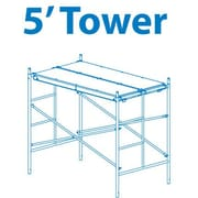 5' H x 72'' W x 42'' D Steel Scaffold Tower w/ 375 lb. Load Capacity Type 2A Duty Rating