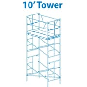 10' H x 72'' W x 42'' D Steel Scaffold Tower w/ 375 lb. Load Capacity Type 2A Duty Rating