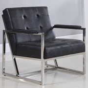 BestMasterFurniture Leather Living Room Arm Chair; Black