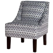 Varick Gallery Printed Swoop Arm Chair; Ace Posh Rain