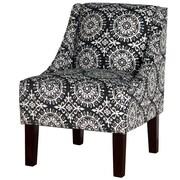 Varick Gallery Printed Swoop Arm Chair; Ace Medal RR Night