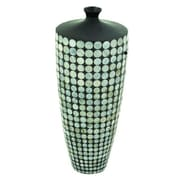 Cole & Grey Ceramic Lacquer Inlay Floor Vase; 21'' H x 9'' W x 9'' D