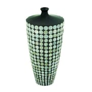 Cole & Grey Ceramic Lacquer Inlay Floor Vase; 17'' H x 8'' W x 8'' D