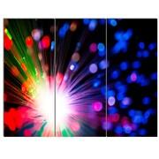 DesignArt 'Multicolor Optical Fiber Lighting' 3 Piece Graphic Art on Canvas Set