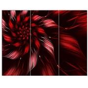 DesignArt 'Multicolor Symmetrical Fractal Flower' 3 Piece Graphic Art on Canvas Set
