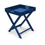 Urban Shop Folding Tray Table; Navy