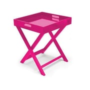 Urban Shop Folding Tray Table; Pink
