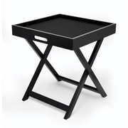Urban Shop Folding Tray Table; Black