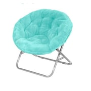 Urban Shop Faux Fur Papasan Chair; Aqua