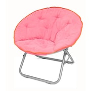 Urban Shop Plush Papasan Chair; Pink with Orange Trim