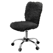 Urban Shop Mid-Back Desk Chair; Black
