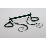 CreativeCedarDesigns Trapeze Bar w/ Triangle Ring; Green