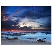 DesignArt 'Colorful Traditional Asian Boats' 3 Piece Photographic Print on Canvas Set