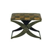 Cole & Grey Metal Fabric Accent Stool