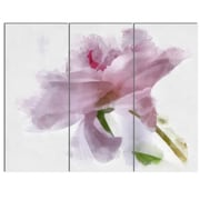 DesignArt 'Light Blue Flower w/ Paint Splashes' 3 Piece Painting Print on Canvas Set