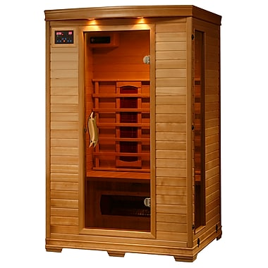 Radiant® 2-Person Hemlock Infrared Sauna With 5 Ceramic Heaters
