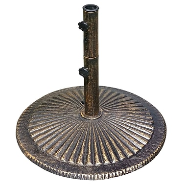 Blue Wave Classic 50 lbs. Cast Iron Umbrella Base, Bronze