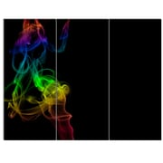 DesignArt 'Colorful Abstract Smoke Waves' 3 Piece Graphic Art on Canvas Set