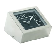 Cole & Grey Stainless Steel Tabletop Clock
