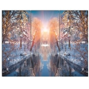 DesignArt 'Beautiful Winter in City Park' 3 Piece Photographic Print on Canvas Set