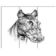 DesignArt 'Freehand Horse Head Pencil Drawing' 3 Piece Graphic Art on Canvas Set