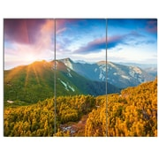 DesignArt 'Bright Sunrise in Carpathian Mountains' 3 Piece Photographic Print on Canvas Set