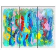 DesignArt 'Hand-Drawn Multi-Color Floral Pattern' 3 Piece Painting Print on Canvas Set
