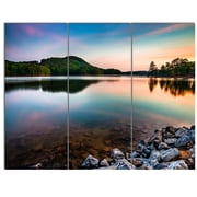 DesignArt 'Lake Allatoona at Red Top Mountain' 3 Piece Photographic Print on Canvas Set