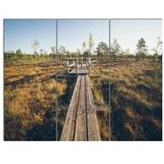 DesignArt 'Retro Grainy Film Look Footpath' 3 Piece Photographic Print on Canvas Set