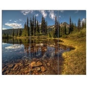 DesignArt 'Bright Clear Day and Clear Lake' 3 Piece Photographic Print on Canvas Set