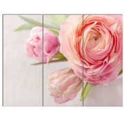 DesignArt 'Full Bloom and Blooming Flowers' 3 Piece Photographic Print on Canvas Set