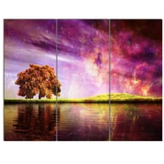 DesignArt 'Magic Night w/ Colorful Clouds' 3 Piece Graphic Art on Canvas Set