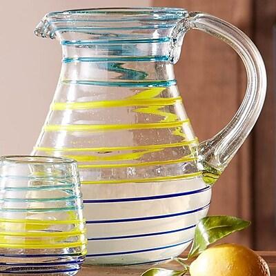 VivaTerra La Raya Recycled Glass 64 Oz. Pitcher WYF078279705038