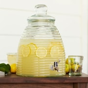 VivaTerra Recycled Glass Beehive Drink 320 Oz. Beverage Dispenser