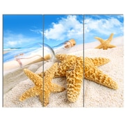 DesignArt 'Message in Bottle Buried in Sand' 3 Piece Photographic Print on Canvas Set