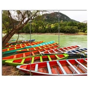 DesignArt 'Colorful Boats in Mexico' 3 Piece Photographic Print on Canvas Set