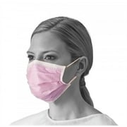 Medline Fluid-Resistant Procedure Face Masks - Earloop - Purple & White - 50/Box (NON27712EL)