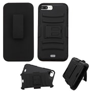 Insten Shockproof Hybrid SoFT Hard Dual Layer Case Holster with Kickstand For iPhone 7 Plus - Black