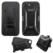 Insten Shockproof Hybrid SoFT Hard Dual Layer Case Holster with Kickstand For iPhone 7 - Black