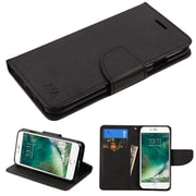 Insten Luxury Wallet Leather Stand Case Cover with Card Slots For iPhone 7 - Black